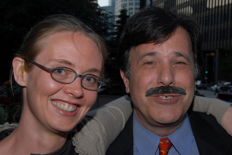Amy Derby and Scott Greenfield at InsideCounsel's 10th Annual SuperConference (Mustache added for verisimilitude.)