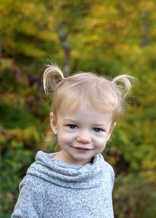 Best Cincinnati Child Photographer Fall Photo of Toddler Girl