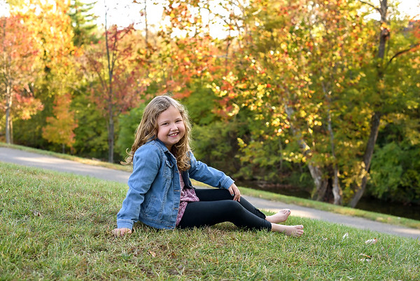 Cincinnati Family Photographer Fall Photos Young Girl