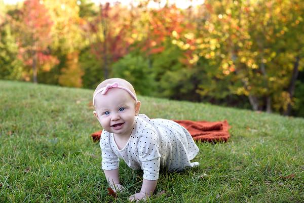 Cincinnati Family Photographer Crawling Baby Fall Photos