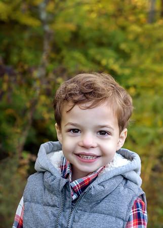 Best Cincinnati Child Photographer Fall Photo of Toddler Boy
