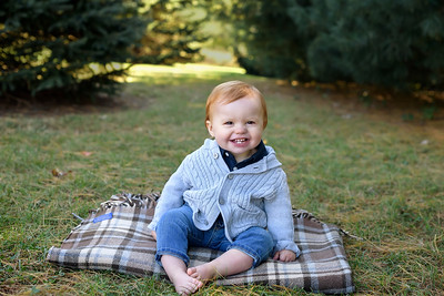 Fall Mini Session at French Park One Year Old Boy