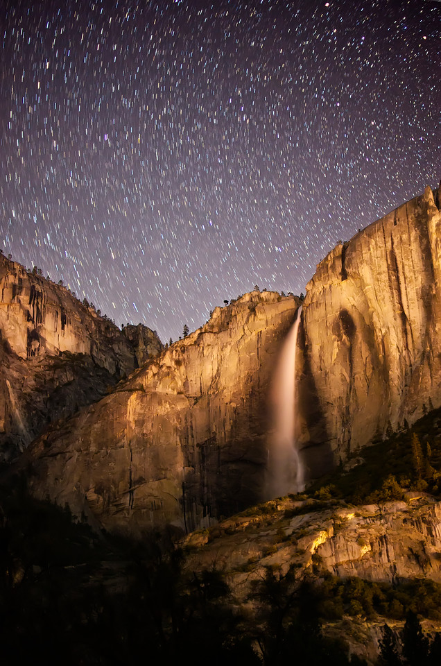Starry Night Over Yosemite Falls