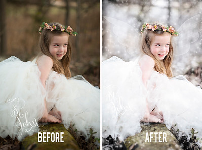 Madeline St John Grover as a Fairy 2017_ SNOW Fairy DSC2104 Before and After