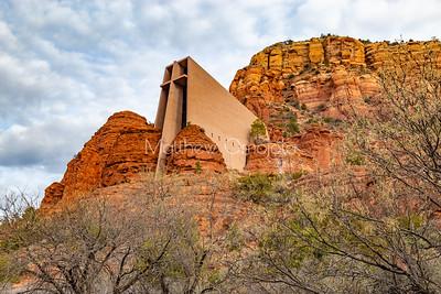 Chapel of the Holy Cross Sedona Arizona AZ. A Roman Catholic Chapel built into the buttes of Sedona managed by the Archdiocese of Phoenix via St. John Vianney parish Sedona.