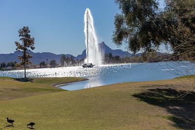 Fountain in Fountain Hills Arizona.