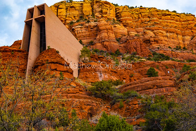Chapel of the Holy Cross Sedona Arizona AZ. A Roman Catholic Chapel built into the buttes of Sedona managed by the Archdiocese of Phoenix via St. John Vianney parish Sedona.
