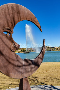 Fountain in 'Man in the moon' of Fountain Hills Arizona