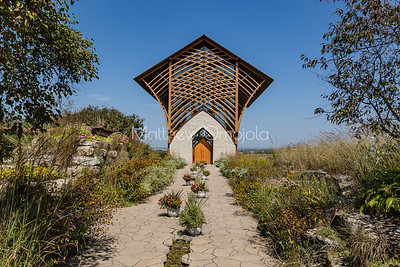 Holy Family Shrine Gretna Nebraska; Home to lots of butterflies.