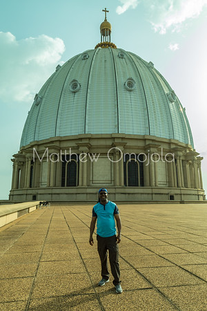 Main dome of the Basilica of Our Lady of Peace Basilique Notre Dame de la Paix Yamoussoukro Ivory Coast Cote d'Ivoire West Africa. The largest church in the world.