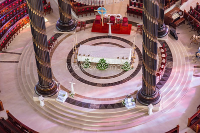 Main Altar of the Basilica of Our Lady of Peace Basilique Notre Dame de la Paix Yamoussoukro Ivory Coast Cote d'Ivoire West Africa. The largest church in the world.