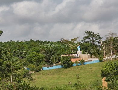 Grotto to the Virgin Mary on the road to Yamoussoukro, Ivory Coast, Cote d'Ivoire