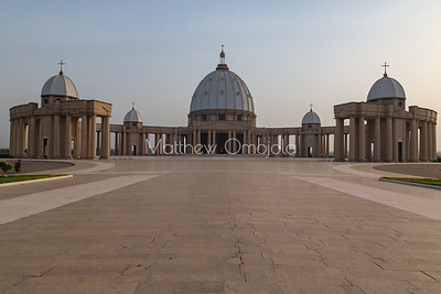 Five domes of the Basilica of Our Lady of Peace Basilique Notre Dame de la Paix Yamoussoukro Ivory Coast Cote d'Ivoire West Africa. The largest church in the world.