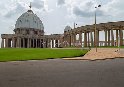 West end, Main dome of the Basilica of Our Lady of Peace Basilique Notre Dame de la Paix Yamoussoukro Ivory Coast Cote d'Ivoire West Africa. The largest church in the world.