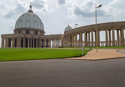 West end, Main dome of the Basilica of Our Lady of Peace Basilique Notre Dame de la Paix Yamoussoukro Ivory Coast Cote d'Ivoire West Africa. The largest church in the world.