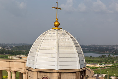 Minor dome of the Basilica of Our Lady of Peace Basilique Notre Dame de la Paix Yamoussoukro Ivory Coast Cote d'Ivoire West Africa. The largest church in the world.