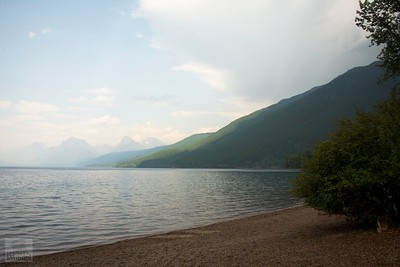 Smoke Rolls In Over Lake McDonald