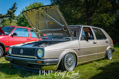 Volkswagen mk2 driver with a little surprise. Brown velour interior and R32 engine. Bit of a sleeper.