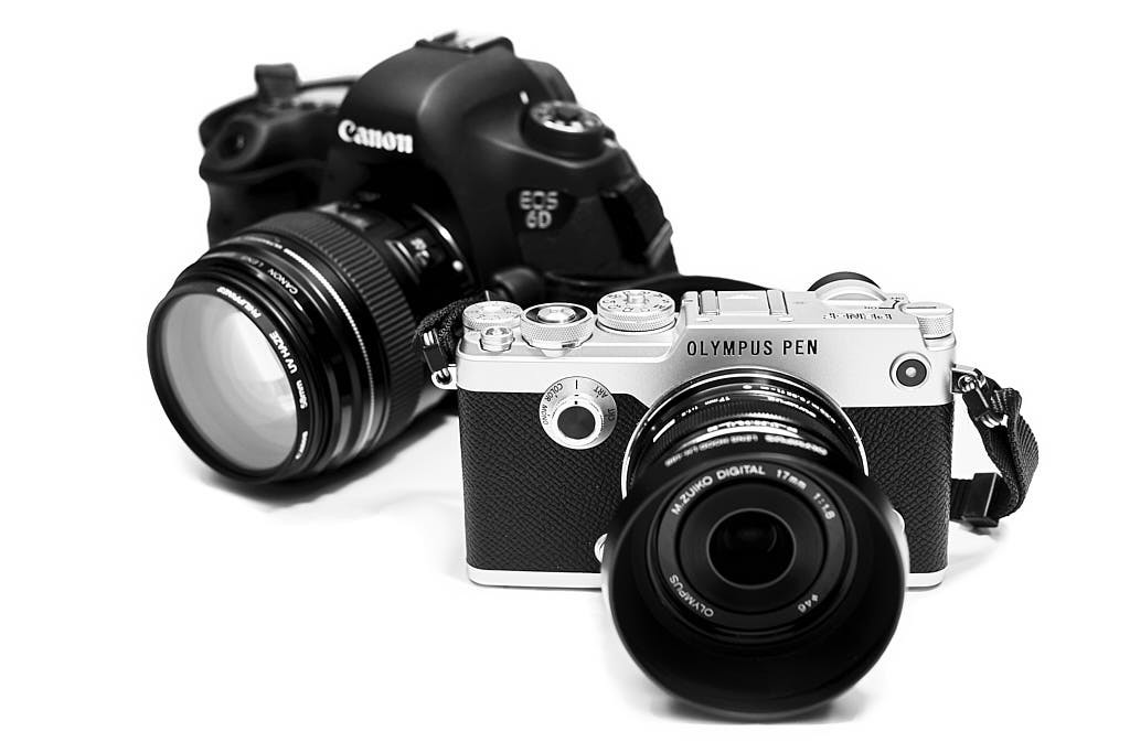 Olympus PEN-F and Canon 6D