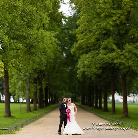 Heiraten im Schloss Dyck - Hochzeit - Brautpaar -  Brenizer Method @ Schloss Dyck