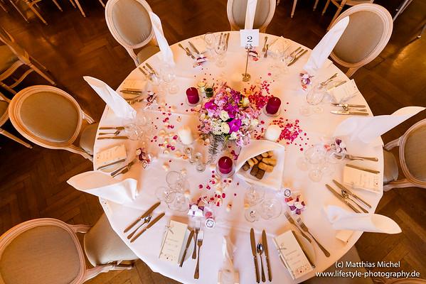 Ballsaal im Schloss Dyck - Hochzeitsessen