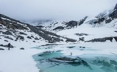 Below Wintergreen Glacier and Montana Peak