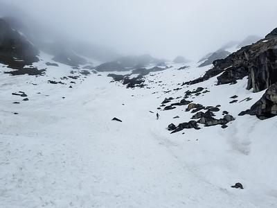 Up toward Bomber Pass