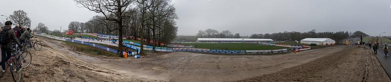 Panorama view of the Hoogerheide Cyclo-cross World Cup course on January 23, 2016 in Hoogerheide, The Netherlands. Photo: Matthew Lasala