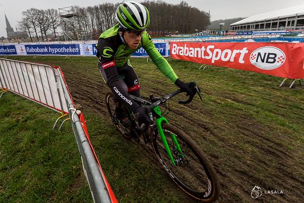 Stephen Hyde on the pre-ride at the Hoogerheide Cyclo-cross World Cup on January 23, 2016 in Hoogerheide, The Netherlands. Photo: Matthew Lasala