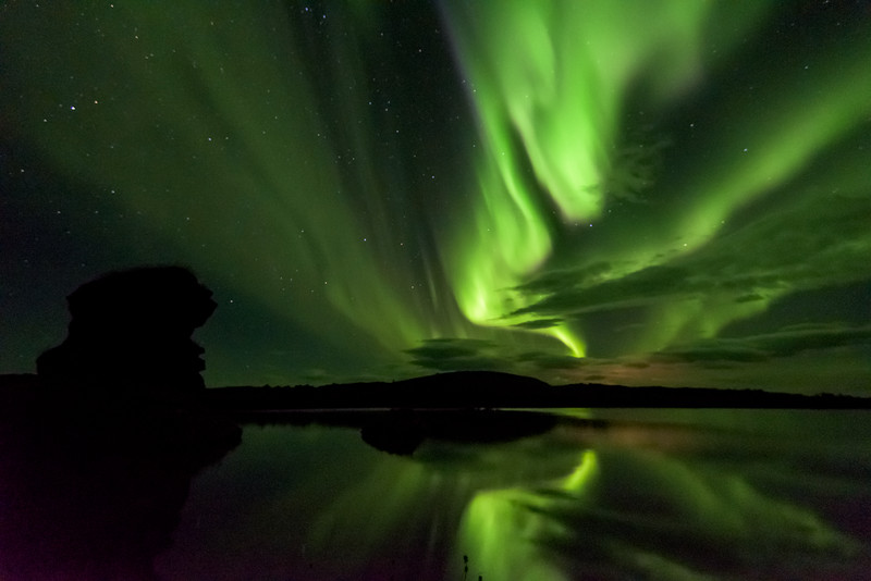 Myvatn Troll watching the Aurora