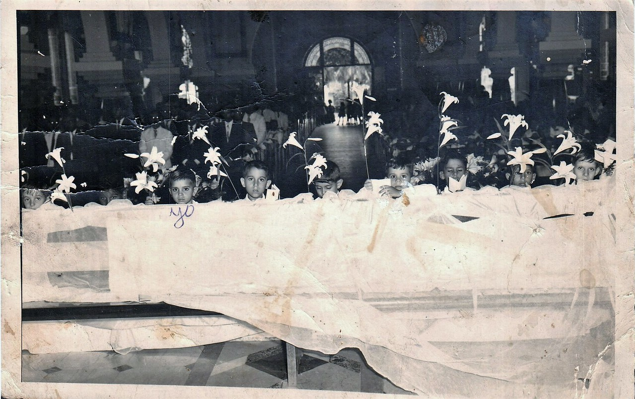 My father at his first communion.