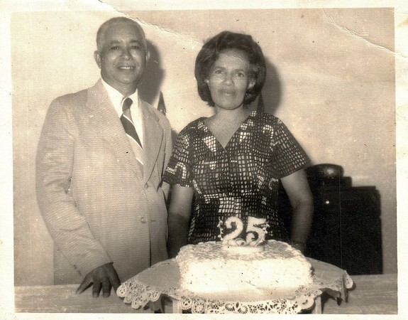 My Abuelo Jose and Abuela Lola, celebrating their 25th year anniversary.