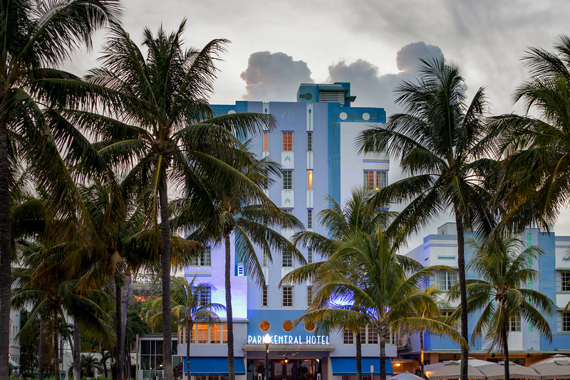 Park Central Hotel in South Beach, Miami, September 2014.
