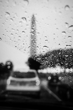 Rainy drive in Washington, D.C., July, 2016
