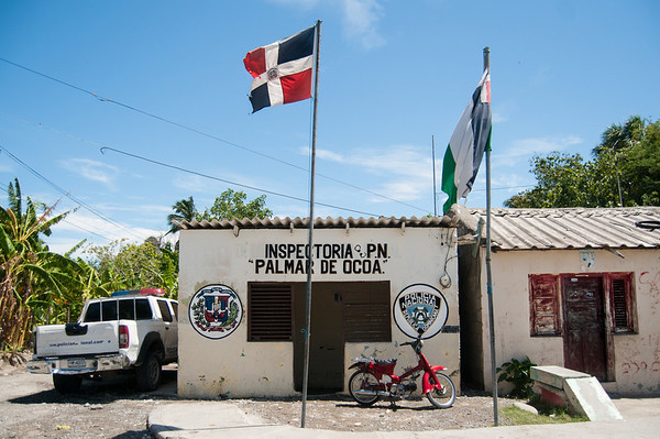 Police department in Palmar de Ocoa, Dominican Republic.