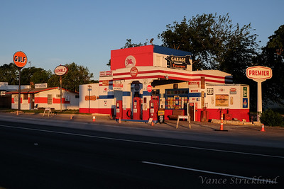 Old gas station in Jarrell, Tx.