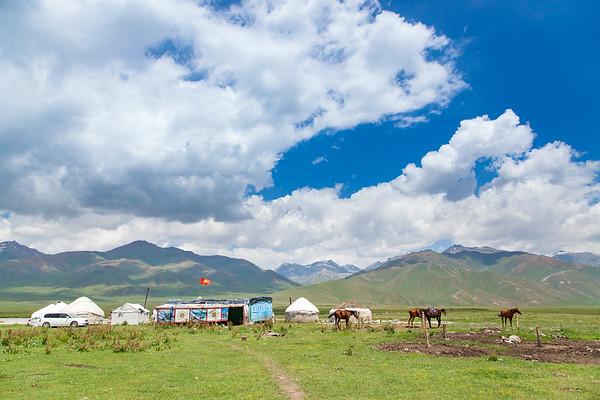 Traditional Kyrgyz settlement.