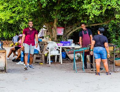 Happy food vendor and visitors, tourists Lekki Conservation Center Lekki Lagos Nigeria
