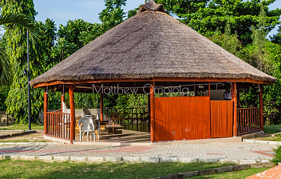 The welcome center at LCC Lekki Conservation Center in Lagos Nigeria.