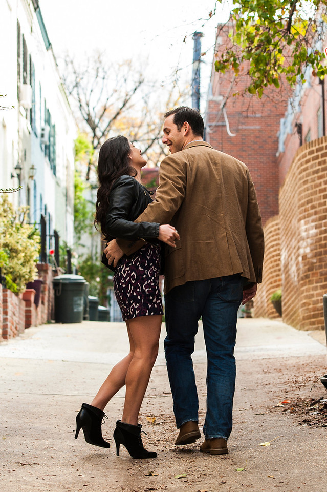 We found a really neat alleyway that was simple yet elegant.  The next few shots were taken with them just being themselves