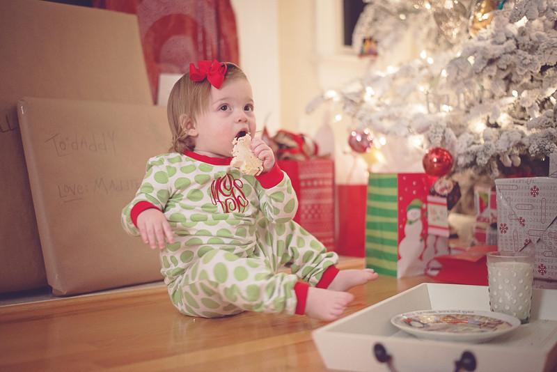 Holidays. Stealing Santa's Cookies & Milk