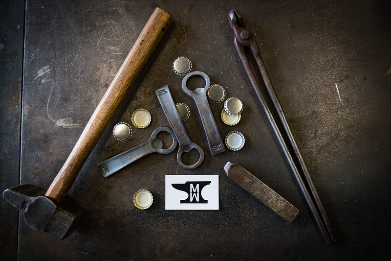 Tools of the trade and finished products.