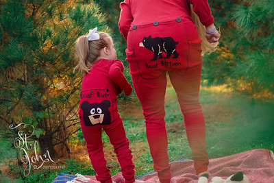 Mommy and Me in Christmas PJs (by Lazy One) at Boyce Tree Farm