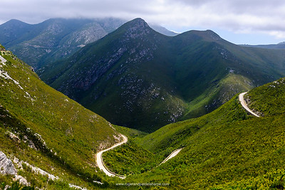 Montagu Pass in the  Outeniqua Mountains between Herold and George. The pass was named after John Montagu, Colonial Secretary of the Cape in the 1840 and built by  a road engineer from Australia named Henry Fancourt White.  Construction started in 1844 , some 250 convicts providing the labour and it was opened for traffic in December 1847. Western Cape. South Africa