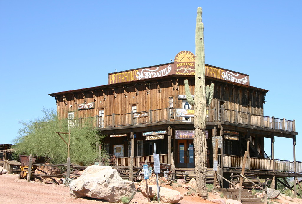 Old minig ghost town in Superstition Mountain, Arizona.