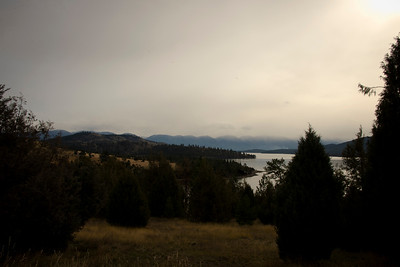 Flathead Lake in Fall