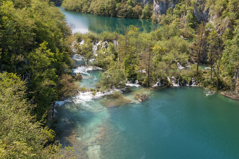 Turquoise water, Plitvice Lakes National Park, Croatia