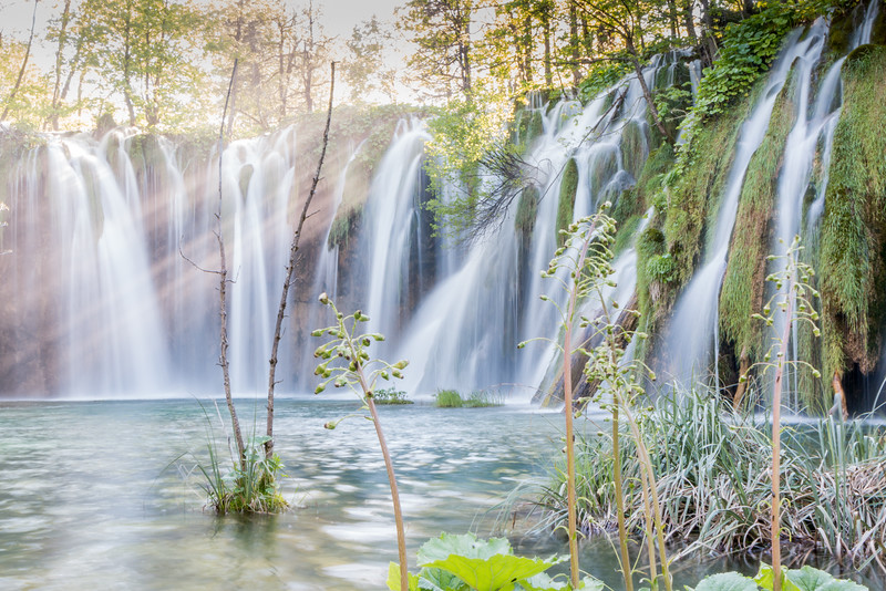 Stunning waterfall, Plitvice Lakes National Park, Croatia