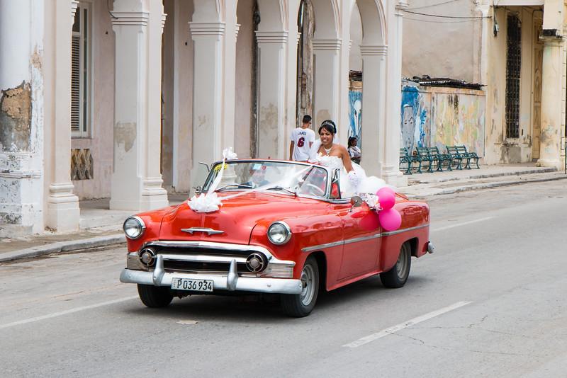 Vintage wedding car, Havana, Cuba