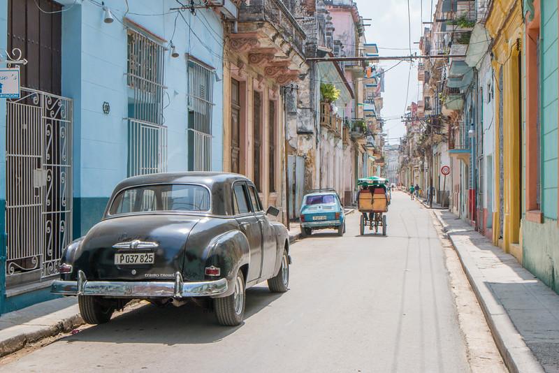 Colorful houses, Havana, Cuba
